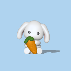 Coelho cenoura1 1.PNG Download STL file Baby Bunny • 3D printable object, usagipan3dstudios