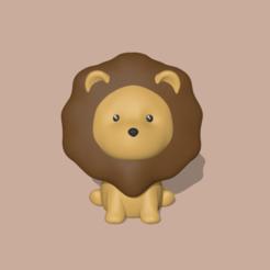 Download 3D printing templates Lion, usagipan3dstudios