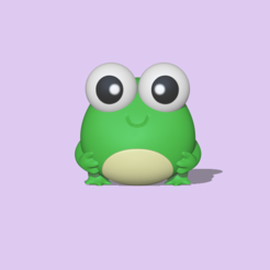Round Frog1.PNG Download STL file Cute Frog • 3D printer template, usagipan3dstudios