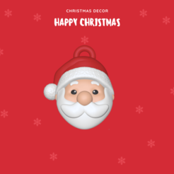 Santa Claus ornament.png Download STL file Santa Claus ornament • Object to 3D print, usagipan3dstudios