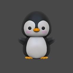 Pinguim 2.jpg Download STL file Penguin • 3D printer design, usagipan3dstudios
