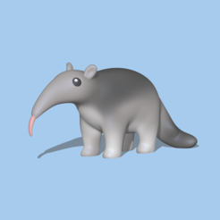 Anteater1.PNG Download STL file Anteater to decorate and play • Object to 3D print, usagipan3dstudios