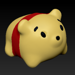 Descargar Modelos 3D para imprimir gratis Pooh, usagipan3dstudios