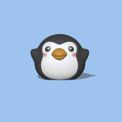 Round Penguin2.PNG Télécharger fichier STL Pingouin rond • Objet pour impression 3D, usagipan3dstudios