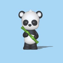Panda with Bamboo1.PNG Télécharger fichier STL Panda avec bambou • Plan pour imprimante 3D, usagipan3dstudios