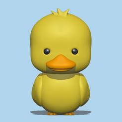 Download 3D printing designs Duck, usagipan3dstudios