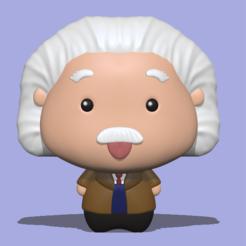 Einstein1.PNG Download STL file Albert Einstein • 3D print design, usagipan3dstudios