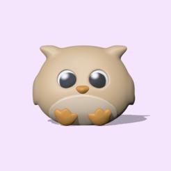 Cute Owl (1).PNG Download STL file Cute Owl • Object to 3D print, usagipan3dstudios