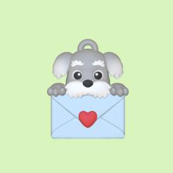 Dog Letter1.PNG Télécharger fichier STL Lettre d'un chien mignon - Charme - Saint-Valentin • Design pour impression 3D, usagipan3dstudios
