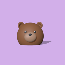 RoundBear1.PNG Download STL file A cute round Bear to decorate and play • 3D printable model, usagipan3dstudios