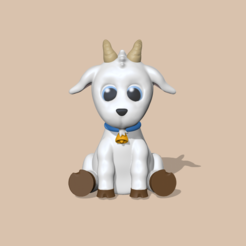 Goat1.PNG Download STL file Goat • 3D print object, usagipan3dstudios