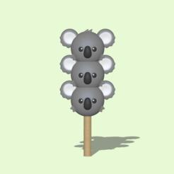 Dango Koala1.PNG Télécharger fichier STL Un Koala Dango mignon pour décorer et jouer • Plan à imprimer en 3D, usagipan3dstudios