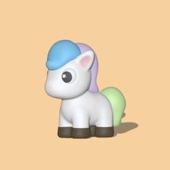 Unicorn1.PNG Télécharger fichier STL Une jolie licorne • Design à imprimer en 3D, usagipan3dstudios