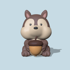 SquirrelModel2 (1).PNG Download STL file Squirrel • 3D print object, usagipan3dstudios