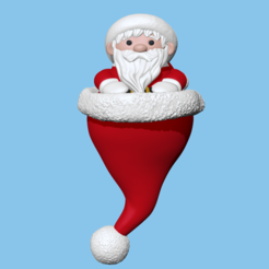 SantaClaus.PNG Download STL file Saint Claus hat Ornament - Christmas • 3D print object, usagipan3dstudios
