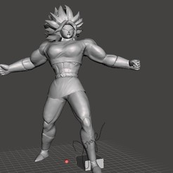 KALE SSJB1.jpg Download STL file KALE FULL POWER / DRAGON BALL SUPER • 3D printable template, jorgeromoleroux