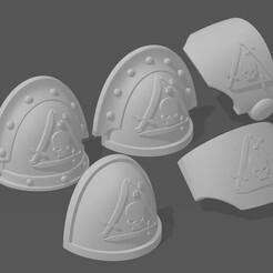 Silver Guard.jpg Download free STL file Silver Guard pads • 3D printer object, MacroRaptor