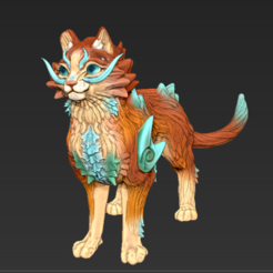 Screenshot_3.png Download STL file Chinese Dragon Cat • 3D print template, FellowFenne