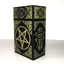 01.jpg Download STL file CARD BOX - WITCHCRAFT // TAROT V3 • 3D printable design, Mihail97