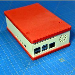 DSC_0030.JPG Télécharger fichier STL gratuit Framboise Pi 4 Big Case Active Cooling avec ventilateur 25x25 et espace supplémentaire pour le PCB • Objet pour imprimante 3D, taviand