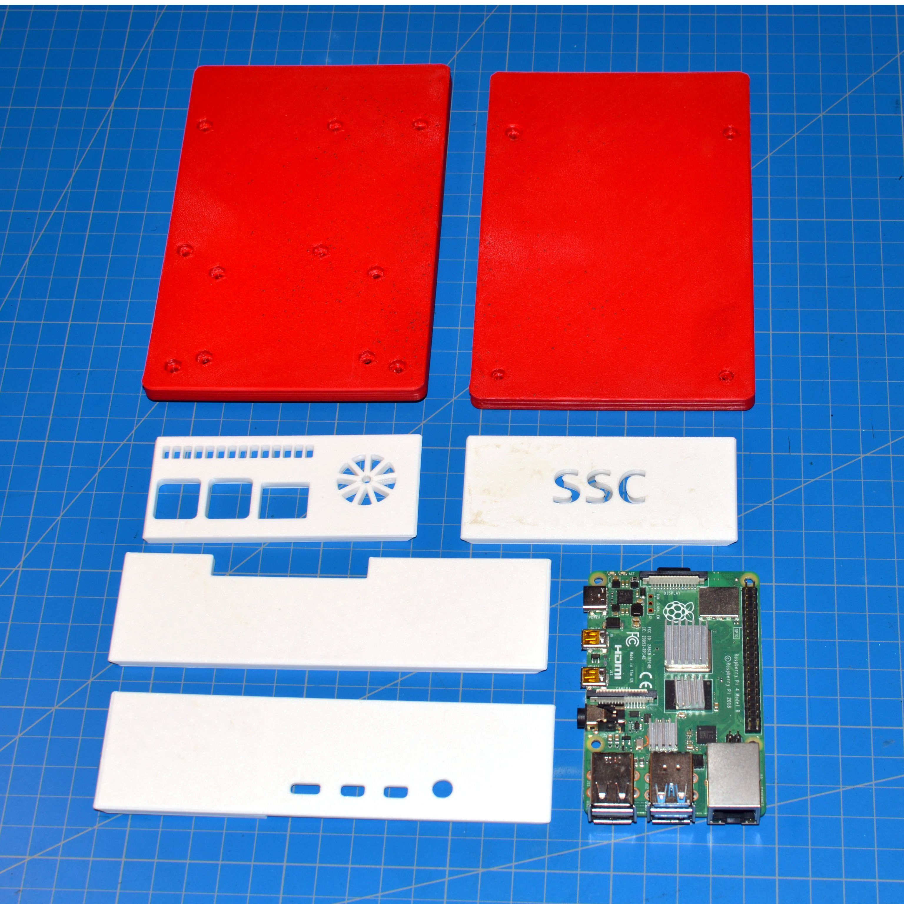 Download free STL file Raspberry Pi 4 Big Case Active Cooling with fan 25x25 and extra PCB space • 3D printer template, taviand