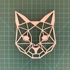 Descargar STL Decoración de paredes de gatos en 2D lowpoly, Catox3d