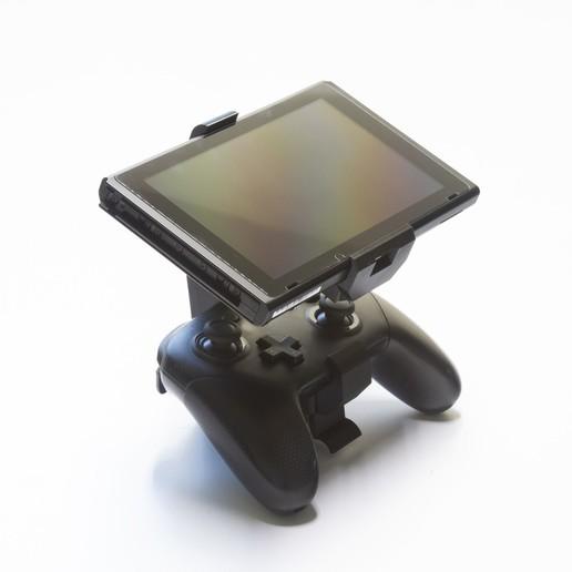 Descargar archivo 3D Montura de mando PRO para el interruptor de Nintendo con un mecanismo de bloqueo único, Replicrafts