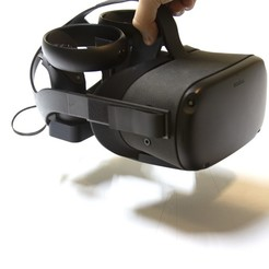 Download 3D printer designs Oculus Quest stand with carrying handle for easy relocation, Replicrafts