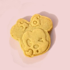Descargar modelo 3D Cookie cutter minnie mouse kiss, Cesssar