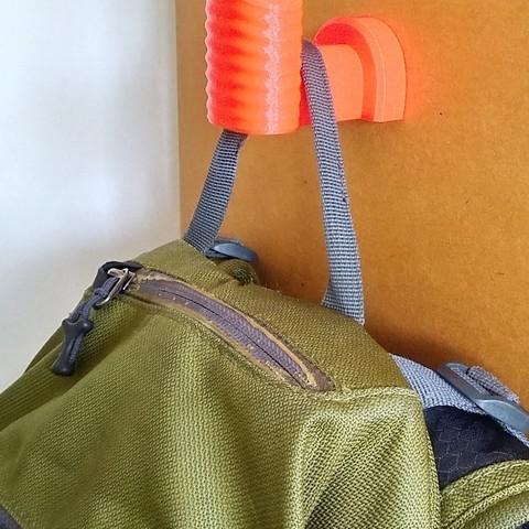 Coat rack 6b.jpg Download free STL file Coat Rack Backpack • Model to 3D print, JuanLC