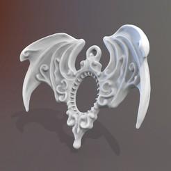 Descargar modelos 3D Gothic Necklace Wings, Ignadeco