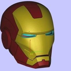 Download 3D printing designs ironman helmet, joanmanero17