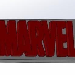 Download free 3D print files marvel logo, joanmanero17