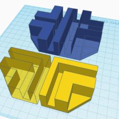 esquineros chicos.png Télécharger fichier STL Coins pour meubles d'une épaisseur de 9 mm • Design imprimable en 3D, mikrotech