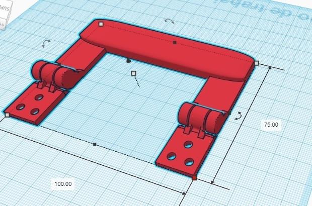 manija con bisagra.jpg Télécharger fichier STL gratuit Poignée à charnière • Plan pour impression 3D, mikrotech