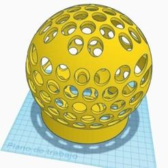 lámpara esfera.jpg Download STL file Sphere ceiling lamp holder • 3D printer design, mikrotech