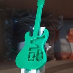 Télécharger fichier STL Guitare électrique + pied, mikrotech