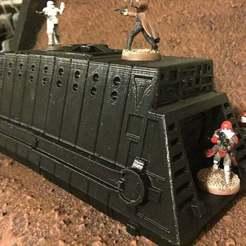 Impresiones 3D gratis Vagones (escala de la Legión de la Guerra de las Galaxias), McAnultyMiniatures