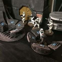Descargar modelo 3D gratis Terminal de la computadora imperial (Escala de la Legión de la Guerra de las Galaxias), McAnultyMiniatures