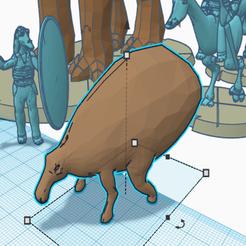 Descargar modelos 3D gratis Shaak (escala de la legión de la Guerra de las Galaxias de la vida silvestre naboo), McAnultyMiniatures