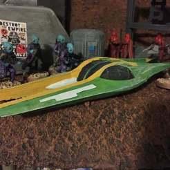 Impresiones 3D gratis El Airspeeder Koro-2 de Zam (escala de la Legión de Star Wars), McAnultyMiniatures