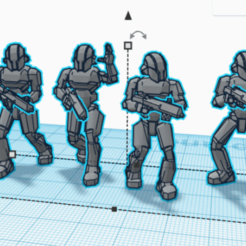Download free STL files Sentinel War Droids (star wars legion scale), McAnultyMiniatures