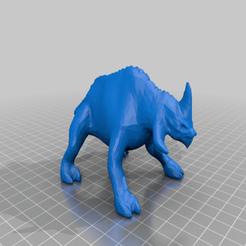 smoothed_reek.png Télécharger fichier STL gratuit Reek (échelle de la légion de la guerre des étoiles) • Design pour impression 3D, McAnultyMiniatures