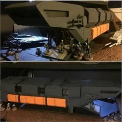 Descargar modelo 3D gratis Rogue One/Zeta Shuttle (Star Wars: Escala de la Legión), McAnultyMiniatures