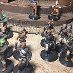 scummy.jpg Download free STL file Scum and Villainy Corps Unit (Skiff Guards/Nikto Warriors/Weequay Pirates, star wars legion scale) • 3D print template, McAnultyMiniatures