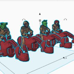 bikeset.png Download free STL file Scum Swoop Bikers (star wars legion scale) • 3D print template, McAnultyMiniatures