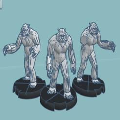 Descargar Modelos 3D para imprimir gratis Wampas (escala de legión de la Guerra de las Galaxias), McAnultyMiniatures