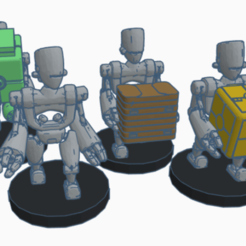 asp_droids.png Download free STL file ASP Labor Droids (legion scale) • Model to 3D print, McAnultyMiniatures