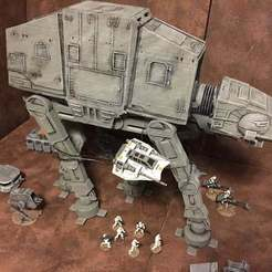 Download free 3D printer templates AT-AT Walker (Star Wars Legion scale), McAnultyMiniatures