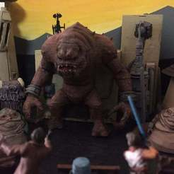 Download free 3D printer designs Rancor (Star Wars Legion Scale), McAnultyMiniatures